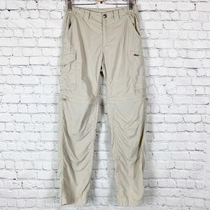 Columbia Silver Ridge Convertible Cargo Pants Tan